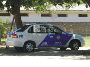 Móvil policial de Alejandra