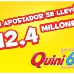 UN APOSTADOR SE LLEVÓ 12,4 MILLONES EN EL QUINI 6