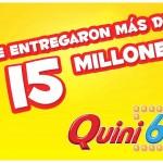 UN APOSTADOR SE LLEVÓ MÁS DE 15 MILLONES EN EL QUINI 6