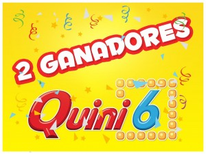 Dos ganadores Quini 6